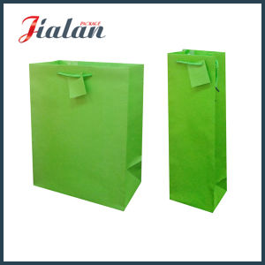 Green Color Custom Logo Made Cheap Pantone Printed Paper Bag pictures & photos