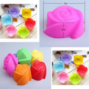 Beautiful Rose-Shape Mini Silicone Mould for Cake Jelly Chocolate pictures & photos