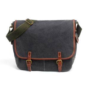 Newest Washed Canvas Fabric School Student Bag Satchel Bags (RS-2012P) pictures & photos