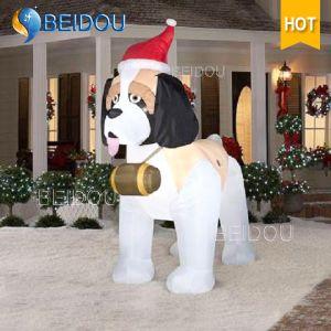 China Giant Husky Dog Christmas Decorations Inflatable Olaf Bear ...