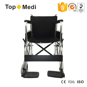 Topmedi Medical Product Cheap Price Aluminum Manual Wheelchair pictures & photos