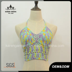 Halter Neck Crochet Crop Top Summer Clothes pictures & photos