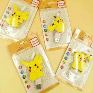 Mobile Phone Accessories Pikachu Retractable USB Data Cable for iPhone pictures & photos