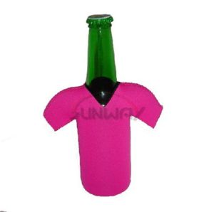 Neoprene Bottle Koozie, Beer Bottle Cooler in T-Shirt Shape (BC0046) pictures & photos