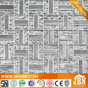 Weaving Shape Silver Color Bedroom Wall Glass Mosaic (G658008) pictures & photos