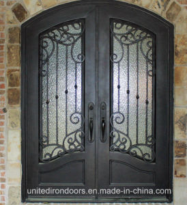 Custom Built Wrought Iron Front Double Door (UID-D042) pictures & photos