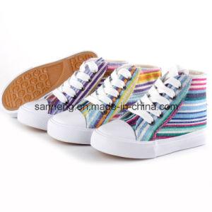 Children Color Stripe Comfort Canvas Shoes (SNC-24241) pictures & photos