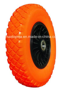 480/400-8 Maxtop Solid Flat Free PU Foam Wheel pictures & photos