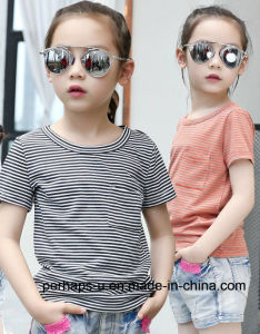 Summer Casual Girls Striped T-Shirt Children Clothes pictures & photos