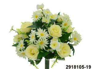 Artificial/Plastic/Silk Flower Rose/Daisy Mixed Bush (2918105-19) pictures & photos