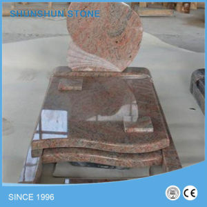 Simple Design Red Granite Headstone Factory pictures & photos