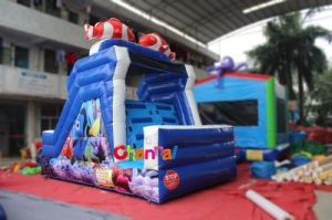 Ocean World Theme Inflatable Water Slide for Water Games (CHSL560) pictures & photos