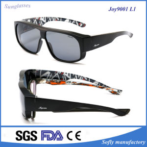 Designer Fit Over Sunglasses with Mirror Lens for Reading Glasses pictures & photos