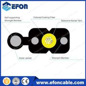 FTTH 2core Figure 8 Singlemode Aerial Optica Fibra Drop Cable pictures & photos