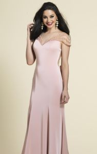 Blush Prom Party Formal Gowns Sheer Back Evening Dresses D4551 pictures & photos