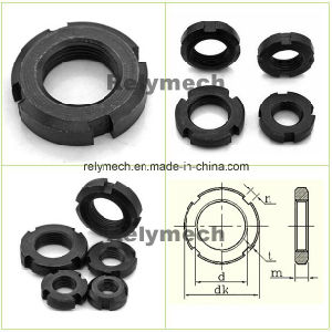 GB812 Round Nut/Slotted Nut/Round Slotted Nut/Lock Nut pictures & photos