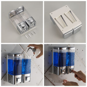 Bathroom, Hotel, Toilet Wall Mounted Double Manual Foam Soap Dispenser pictures & photos