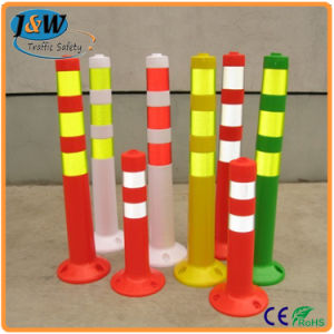 Factory Direct Sale 75cm Height Removable Flexible PVC Delineator Post pictures & photos