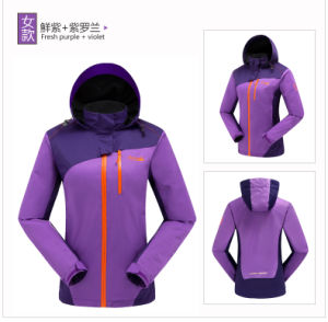 Hot Selling Ladies Softshell Hood Jacket pictures & photos