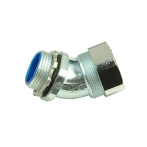 "45 or 90 Angel Connector, Connector Conduit, Flexible Conduit Sizes: 3/8"" pictures & photos"