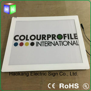 LED Ultrathin Picture Frame Acrylic Magnetic Panel Light Box pictures & photos