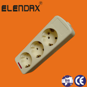 3-Way European Standard Grounding Extension Power Socket (E9003E) pictures & photos