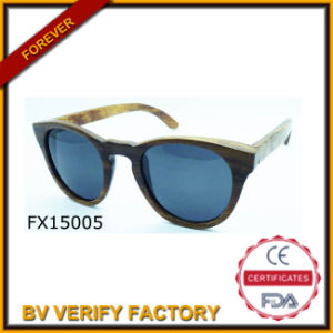 Handmade Round Frame Wooden Sunglasses (FX15005) pictures & photos