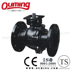 2PC Carbon Steel Flange Ball Valve with High Mouting Pad (WCB) pictures & photos