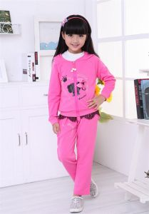 Ks1179 2015 Brand Autumn Girl Sets Children′s Jcket+ Pants 2 PCS Kids Wear Free Shipping for Wholesale pictures & photos