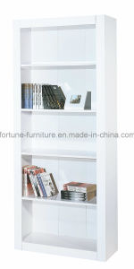 Modern Wooden UV High Gloss White Bookcase (7905102)
