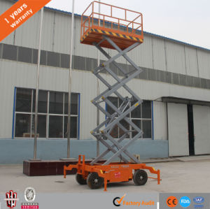 12m Hydraulic Mobile Scissor Lift for Painting pictures & photos