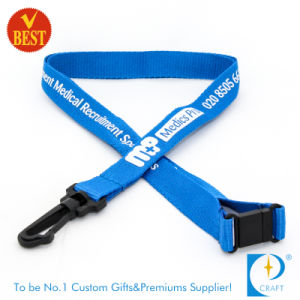 Custom Flat Polyester Neck Lanyard with Plastic Clasp pictures & photos