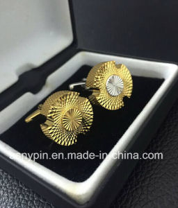 Silver and Gold Plating Best Brass Cufflinks Set pictures & photos