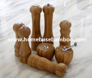 New Design Bamboo Salt & Pepper Mill Grinder, Ceramic Grinder pictures & photos