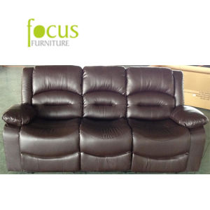 Popular Brown Living Room Sofa, Leather Upholstered Sofa, Sofa (FS-009) pictures & photos