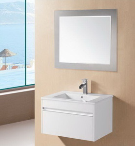 White Glossy MDF Bathroom Vanity with Buffer Close (MEKO-600) pictures & photos