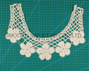 Fashion Embroidery Design Cotton Guipure Crochet Lace Collar Fabric Garment pictures & photos