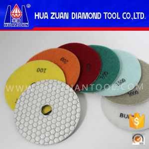 Dry Grinding 50#-3000# Hexagon Diamond Marble Polishing Pads pictures & photos