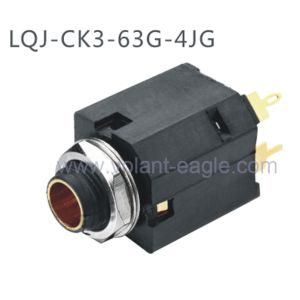 Plastic 1/4′′ Stereo Enclosed 6.35mm Phone Jack with RoHS pictures & photos