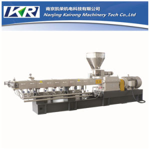 HDPE Plastic Compounding Recycle Pellet Twin Screw Extruder Machine pictures & photos
