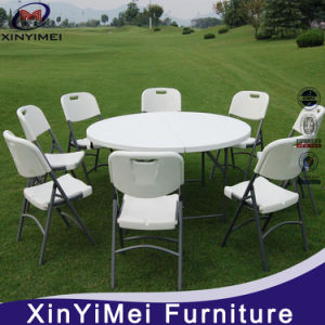 Cheap White Plastic Outdoor Round Folding Table pictures & photos