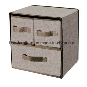 2 Layer 3 Drawer Nonwoven Storage Box pictures & photos