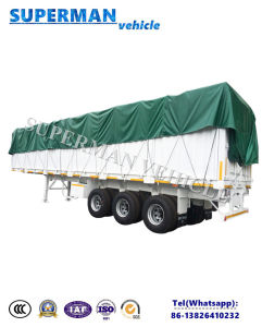 Heavy Duty 13m 3 Axle Side Wall Cargo Van Semi Truck Trailer pictures & photos