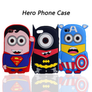 Wing Five-Pointed Star Shield Silicone Phone Case for Monocular Bat for iPhone 7 7plus (XSY-012,) pictures & photos