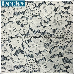 2017 High Quality White Jacquard Nylon Fabric Lace