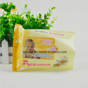 Baby Wet Wipe Packaging Bag with Reusable Sticker pictures & photos
