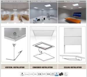 Signcomplex 35W 45W Ultra Thin 62X62cm Warm White LED Panel Light Ceiling Lamp with UL pictures & photos