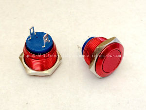 16mm Momentary Switch Plated Red Push Button Switch pictures & photos