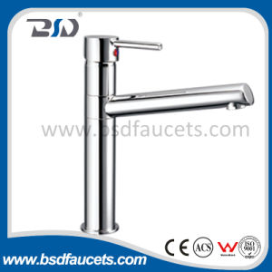 Wall Mount Bath Shower Faucet with Chrome Finish Single Handle pictures & photos
