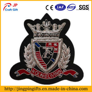 Custom Raised Embroidery Badge, OEM Garment Embroidered Patches pictures & photos